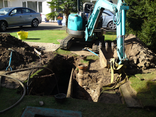 Replacing a Septic Tank